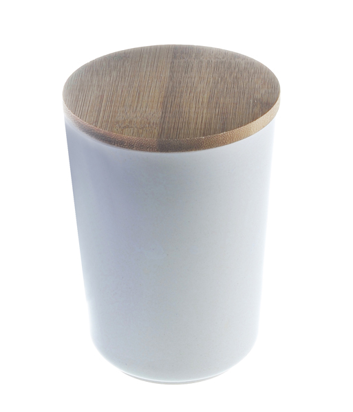 17-72362, Vorratsdose 14 cm aus Bambus/Maismehl/Resin, creme,