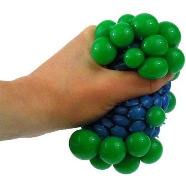 Squishy Mesh Ball Stressball Ball im Netz, Anti Stress Ball in verschiedenen Farben