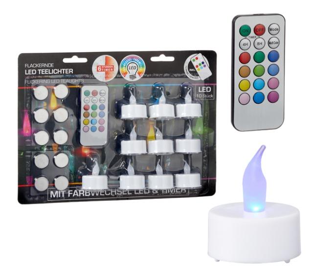 17-72753, LED Teelichter Set mit Farbwechsel