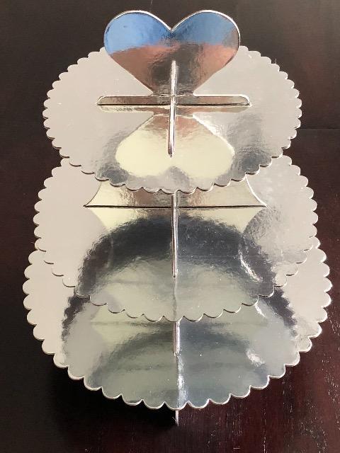 Aussteller von Süßwaren Etagere 3 stöckig