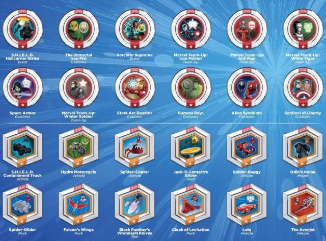 Power Disc Disney Infinity Marvel Original 2.0 3.0