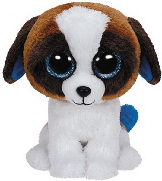 Duke - Hund weiss/braun, ca. 15cm, 1 Stück