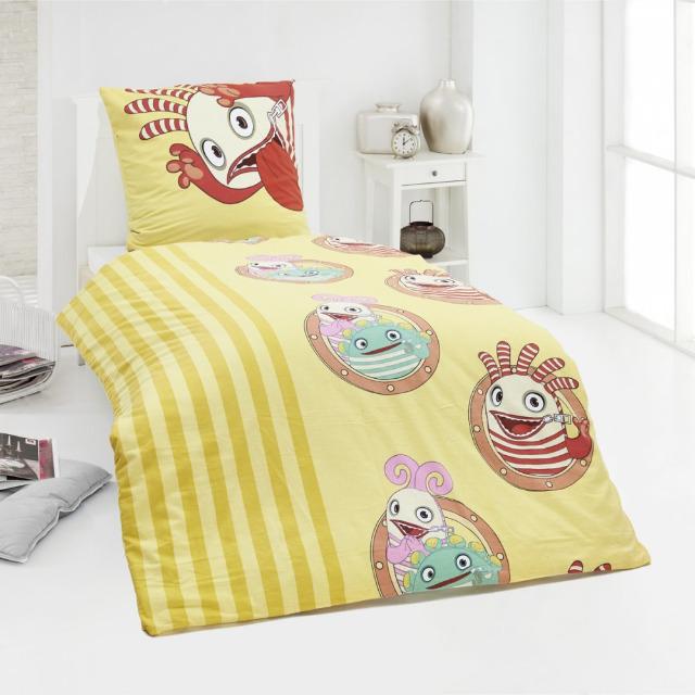 Wir bieten eine 2tlgFlanell Kinderbettwäsche von in der Größe 135x200 + Kissenbezug 80x80 an.