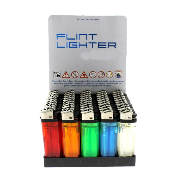 Einweg Feuerzeug mix Farben transparent
