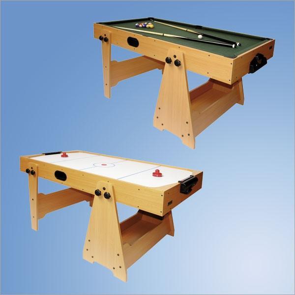 2-in-1 Spieltisch Billard + Airhockey klappbar platzsparend