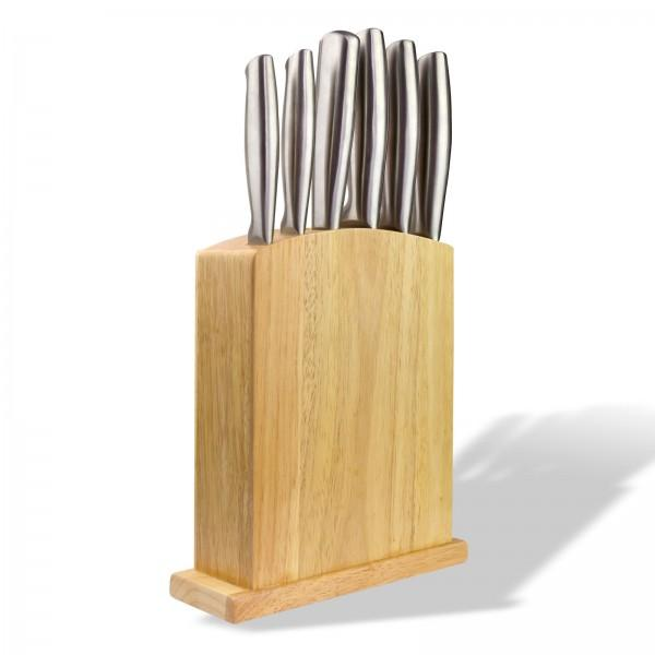 Messerset 7 teilig inkl. Holz-Messerblock