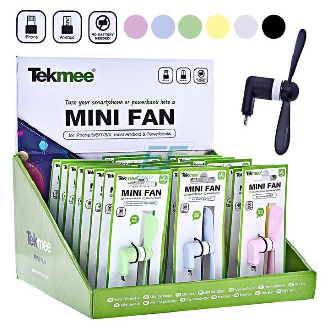 Tekmee Mini Ventilator für Smartphone iPhone & Android