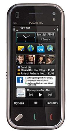 Nokia N97 und N97 Mini Smartphone (QWERTZ-Tastatur, GPS, W-Lan, Ovi Karten, Kamera mit 5 MP)