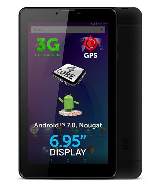 Allview Ax502 Tablet PC 6,95 Zoll 3G WLAN 1GB QuadCore Android 7.0 Kamera Bluetooth GPS SIM NAVI Navigation Computer surfen Internet