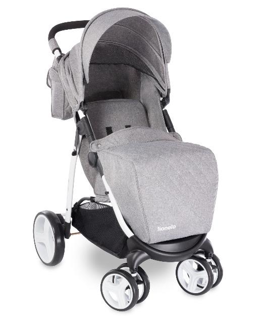 Lionelo Elise Kinderwagen grau + Wickeltasche Buggy Sportbuggy Kinderbuggy Babywagen Babybuggy Baby Kind Kinder Eltern Mutter Vater wandern