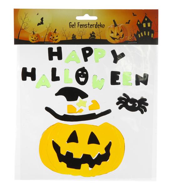 17-60826, Gel Fensterdeko Halloween selbstklebend