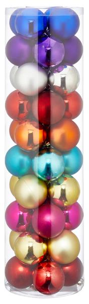 17-28297, Christbaumkugel 6 cm, 40er Set, Weihnachtsbaumkugeln, Baumschmuck++++++