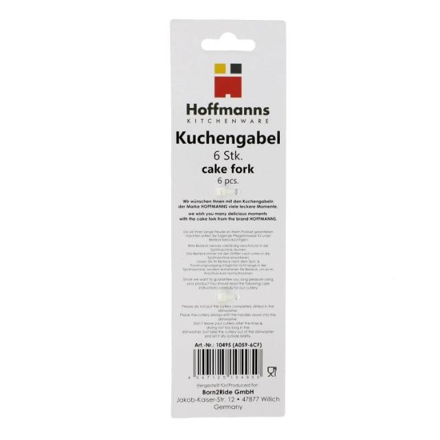 6-tlg. Kuchengabel von Hoffmanns aus rostfreiem Edelstahl & Spülmaschinengeeignet