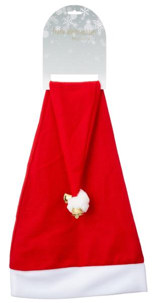 17-28332, XXL Weihnachtsmütze, lang, 80 cm, mit Glocke, Glöckchen, Nikolausmütze