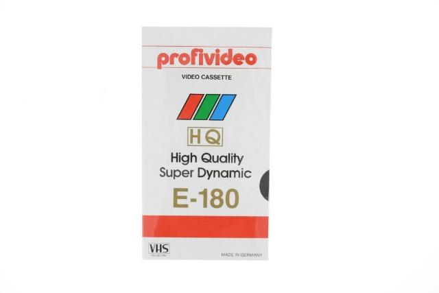 Video Kassette VHS / 180 Minuten Aufnahmezeit