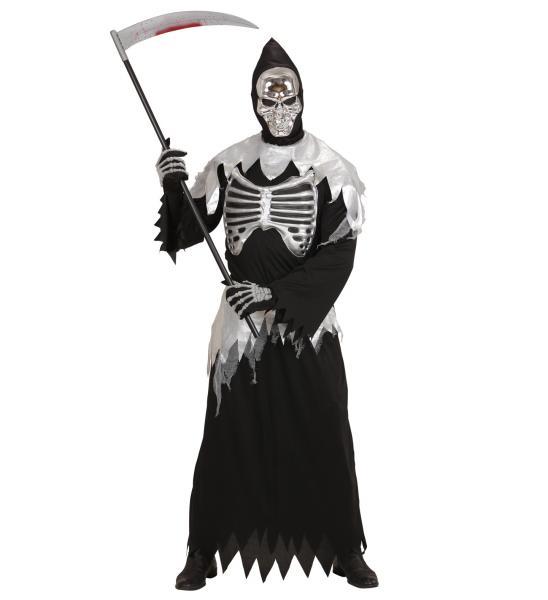 """""""GRIM REAPER"""" (Robe mit Rippenaufdruck, Gürtel, Maske mit Kapuze)"""