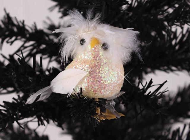 Christbaumschmuck Eule mit Klammer Anhänger Weihnachten Dekostecker Tannenbaum Glitzer Geschenk Christmas Dekoration - 0,29 Euro