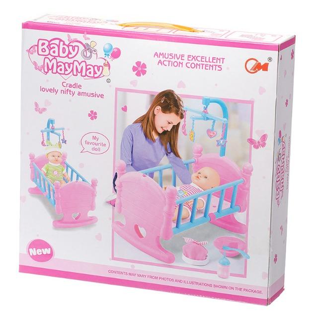 2098 Babywiege mit Algino Pink Sets