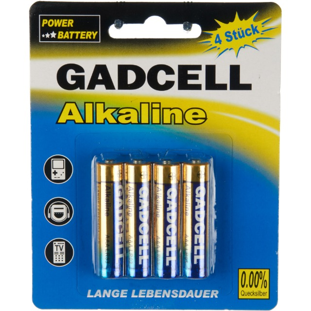 28-755147, Batterie Gadcell AAA/R3, 4er Pack