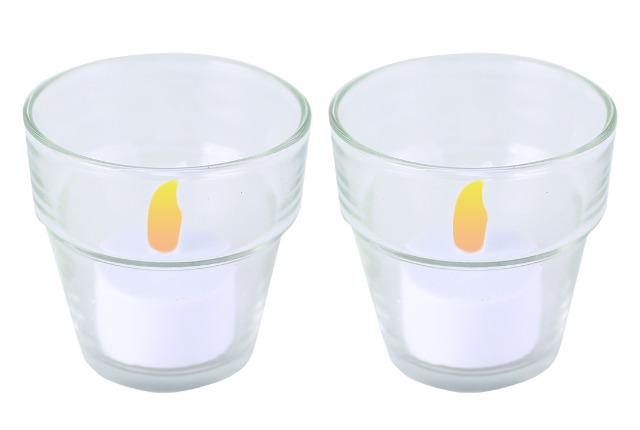 Teelichthalter Teelichtgläser 60 mm Glas Geschenk Teelichtgläschen Deko Candle Tischdeko Dekoration nur 0,49 Euro