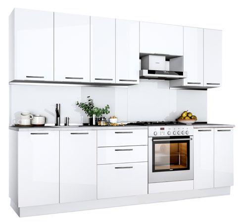Küche Hochglanz Lackiert 280 cm
