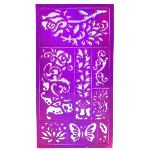 28-456509, ICE Princess Tattoo Gelstifte, 5er Pack, mit Schablone