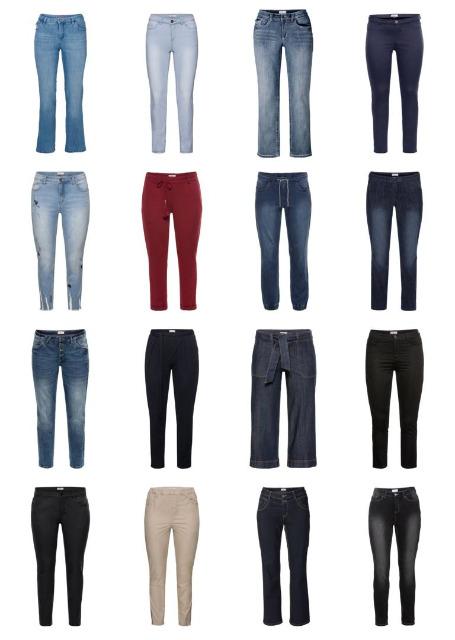 Damen Übergrößen Mode Plus Size Hosen Jeans Große Größen Restposten Mix