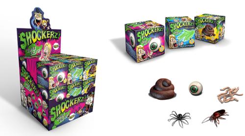Shockerz Scherzartikel im 24er Verkaufs-Display Aufsteller Super Eklig Super Schocker Halloween