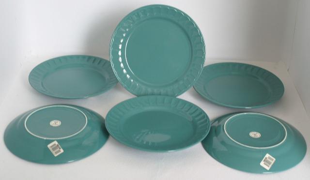 Keramik Ess Speise Teller Rastal Corona Edition Grün Geschirr Flach und Tief 24/23 cm Durchmesser