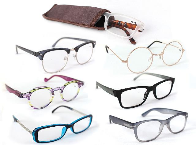 Mix Posten Lesebrillen mit Brillenetui Damen Herren Unisex Lesebrille Sehstärke Augenoptik Lesehilfe Sehhilfe Arbeitsplatzbrille Brille Bril