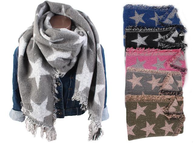 Damen Trend Winter XXL Schal Stern Stola Poncho Weich Warm Qualität XL Schals - 7,90 Euro