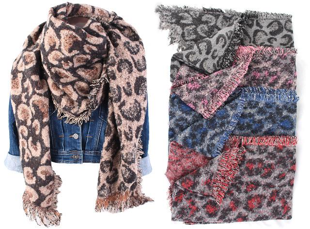 Damen Trend Winter XXL Schal Stola Poncho Weich Warm Muster Qualität XL Schals - 7,90 Euro