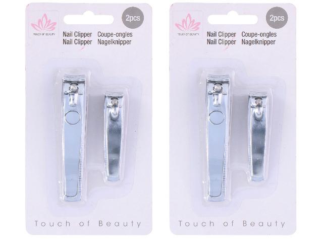 Nagelknipser 2er Set Hand Fuß Knipser Finger Nagel Nagelhaut Clipper Pediküre Maniküre Nail Trimm Travel Pocket  - 0,99 Euro