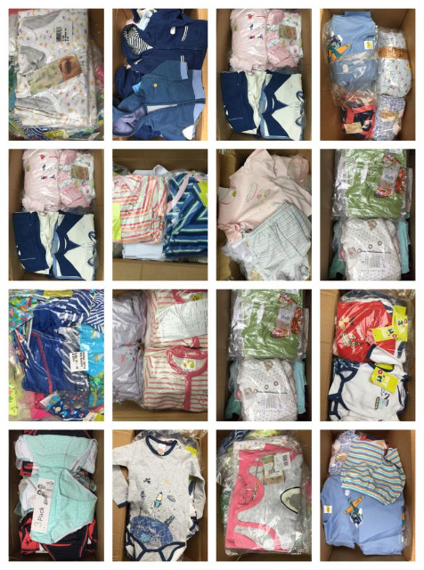 Babytextilien Restposten Große Mengen Baby Bekleidung Mix Paletten LKW Container Großhandel