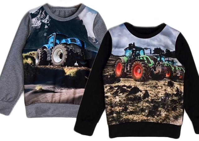 Kinder Jungen Pullover Traktor Bauer Farmer Langarmshirt Sweatshirt Shirt Pulli Sweater Kinderpullover Oberteil - 7,90 Euro