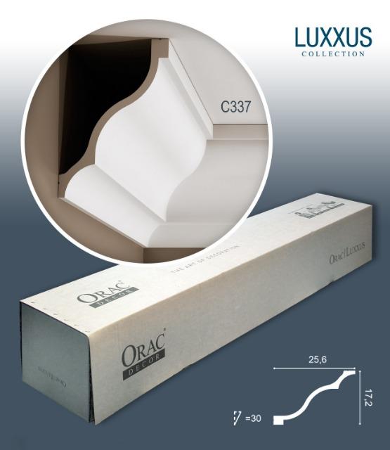 Orac Decor C337 LUXXUS 1 Karton SET mit 9 Stuckleisten | 18 m