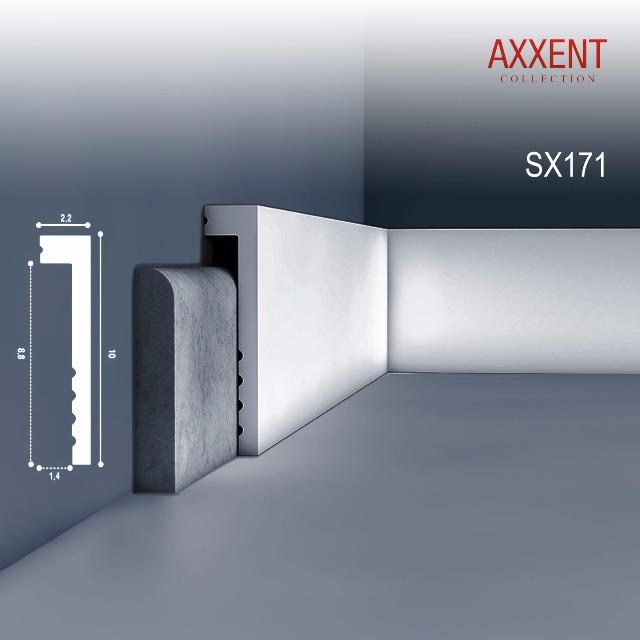 Orac Decor SX171 AXXENT 1 Karton SET mit 20 Sockelleisten Zierleisten | 40 m