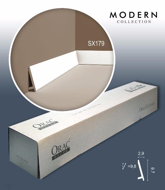Orac Decor SX179 MODERN 1 Karton SET mit 20 Sockelleisten Zierleisten | 40 m