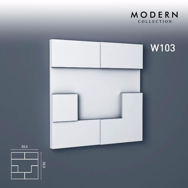 Orac Decor W103 MODERN 1 Karton SET mit 5 Wandpaneelen Zierelementen   0,55 m2