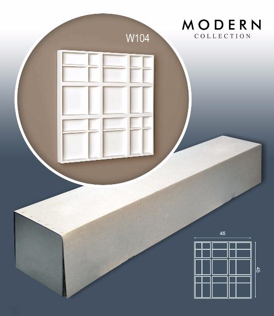 Orac Decor W104 MODERN 1 Karton SET mit 5 Wandpaneelen Zierelementen | 1,01 m2