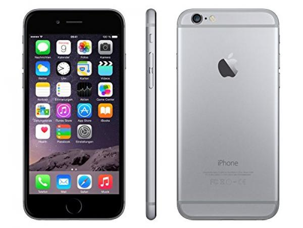 Apple iPhone 6 (A1586) Space Grau 64GB LTE WLAN Bluetooth iOS 9 Rechnung  mit 19%  MwSt