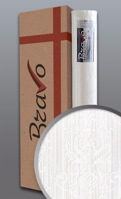 Barock Tapete EDEM 83004BR60 Vliestapete zum Überstreichen strukturiert mit Ornamenten matt weiß 1 Karton 4 Rollen 106 m2