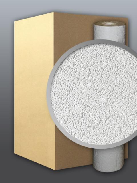 EDEM 202-40 Dekorative Struktur Schaum-Tapete rauhfaser weiß putz optik    71 qm - 1 Kart. 9 Rollen