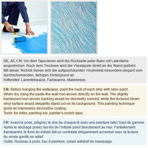 EDEM 378-60 1 Kart 5 Rollen Decor Decken Wand Vlies-Tapete zum Überstreichen weiß   132 qm