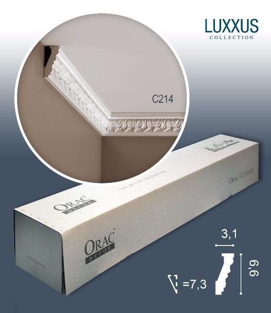 Orac Decor C214 LUXXUS 1 Karton SET mit 20 Eckleisten Stuckleisten | 40 m