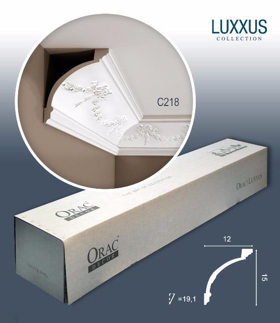 Orac Decor C218 LUXXUS 1 Karton SET mit 12 Eckleisten Stuckleisten   24 m