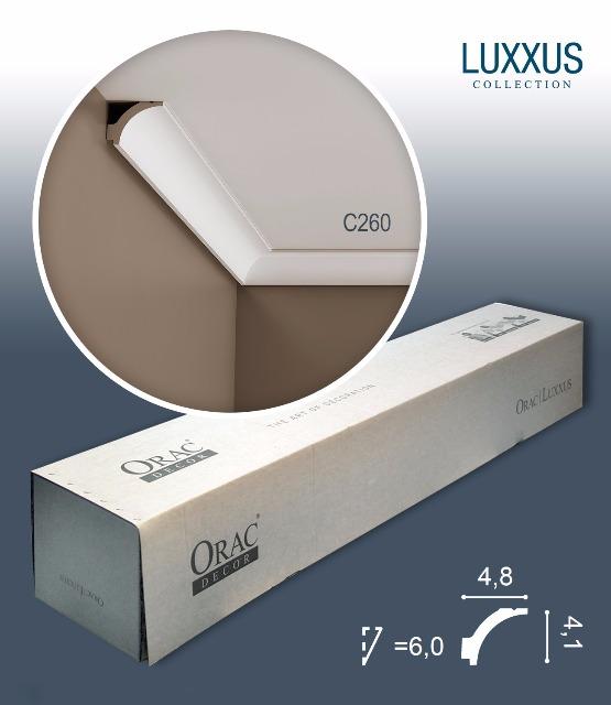 Orac Decor C260 LUXXUS 1 Karton SET mit 25 Eckleisten Stuckleisten | 50 m