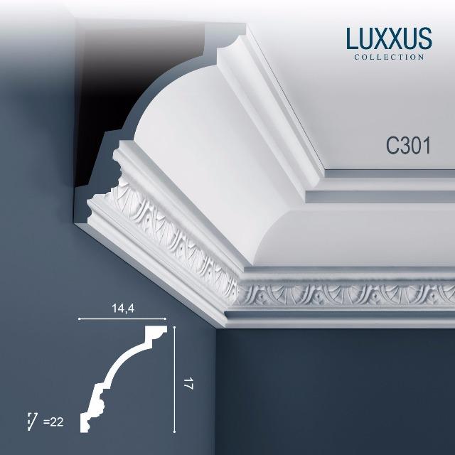 Orac Decor C301 LUXXUS 1 Karton SET mit 14 Stuckleisten | 28 m