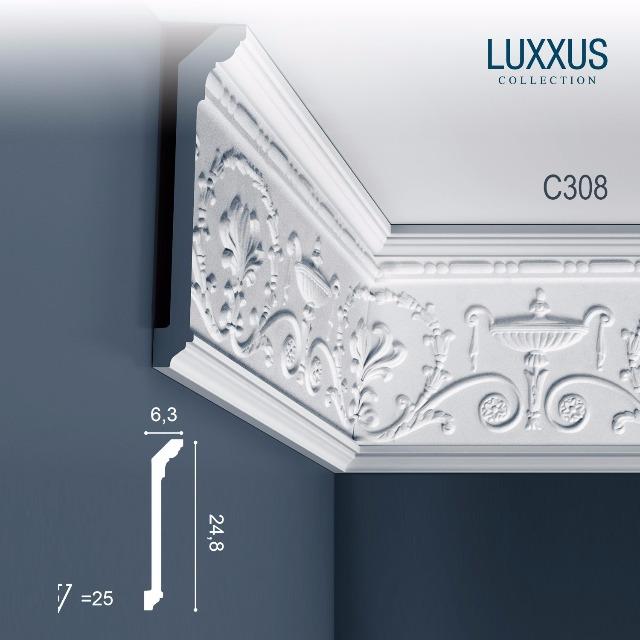 Orac Decor C308 LUXXUS 1 Karton SET mit 10 Stuckleisten | 20 m