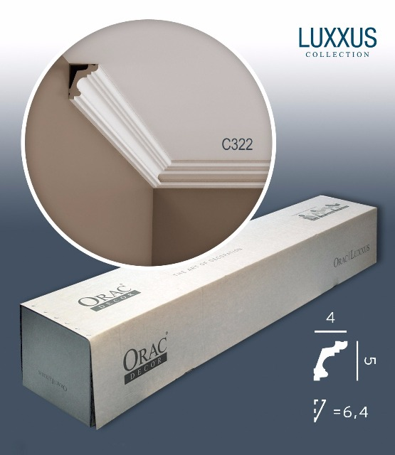 Orac Decor C322 LUXXUS 1 Karton SET mit 16 Stuckleisten | 32 m